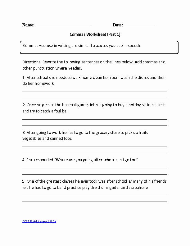 High School Punctuation Worksheets Elegant 14 Best Of Punctuation Worksheets High School