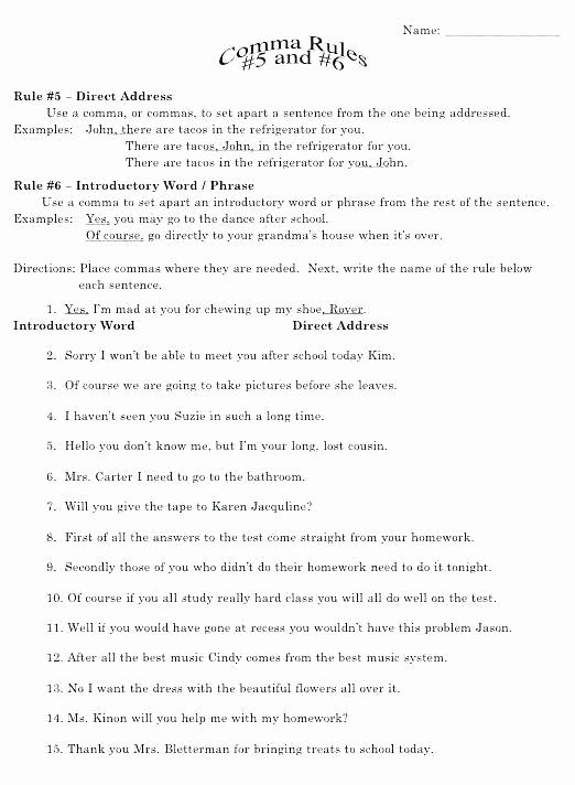 High School Punctuation Worksheets Elegant High School Sentence Correction Worksheets