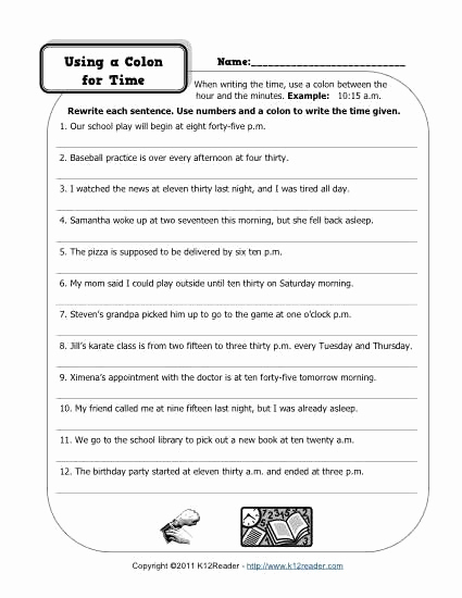 High School Punctuation Worksheets Lovely High School Punctuation Worksheets