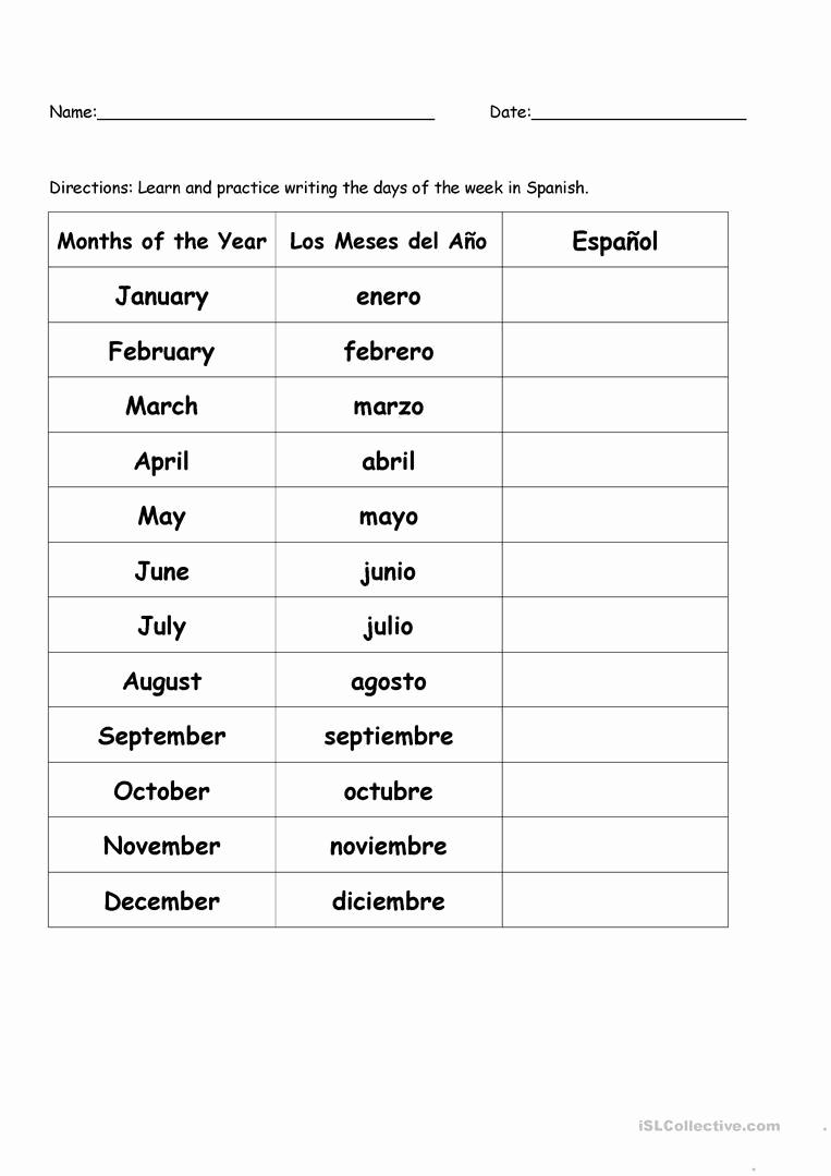 High School Spanish Worksheets Beautiful 20 High School Spanish Worksheets