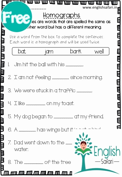 Homograph Worksheets 5th Grade Lovely Addition Worksheets with