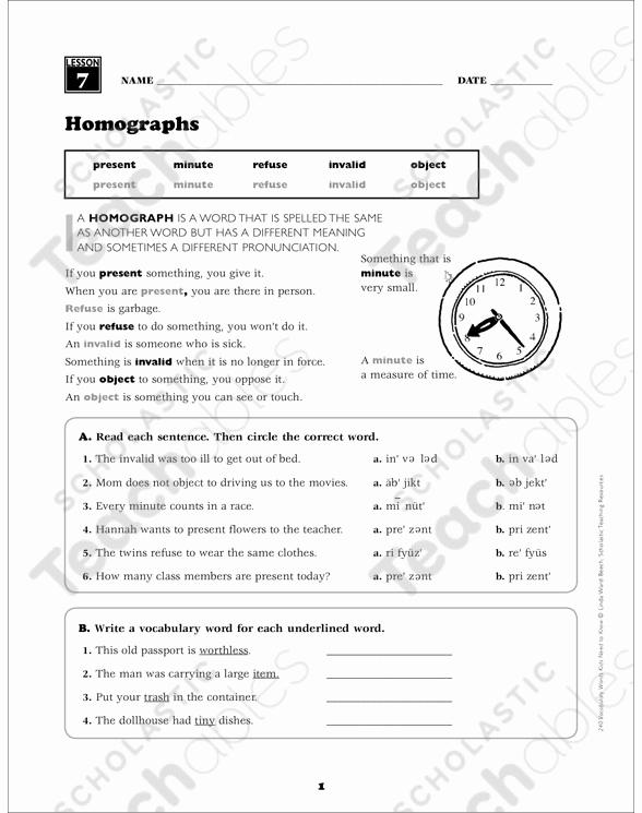Homograph Worksheets 5th Grade Unique 20 Homograph Worksheet 5th Grade