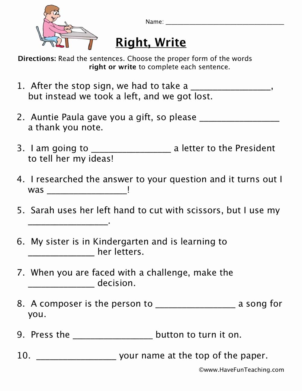 Homograph Worksheets 5th Grade Unique Homophones Worksheet 5th Grade