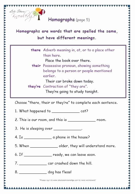 Homographs Practice Worksheets Elegant 25 Homographs Worksheet 3rd Grade