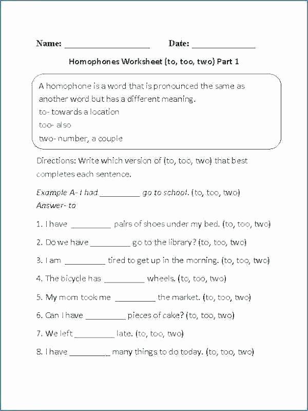 Homographs Practice Worksheets Lovely Homophones Worksheets for Grade 5 Homographs Worksheets
