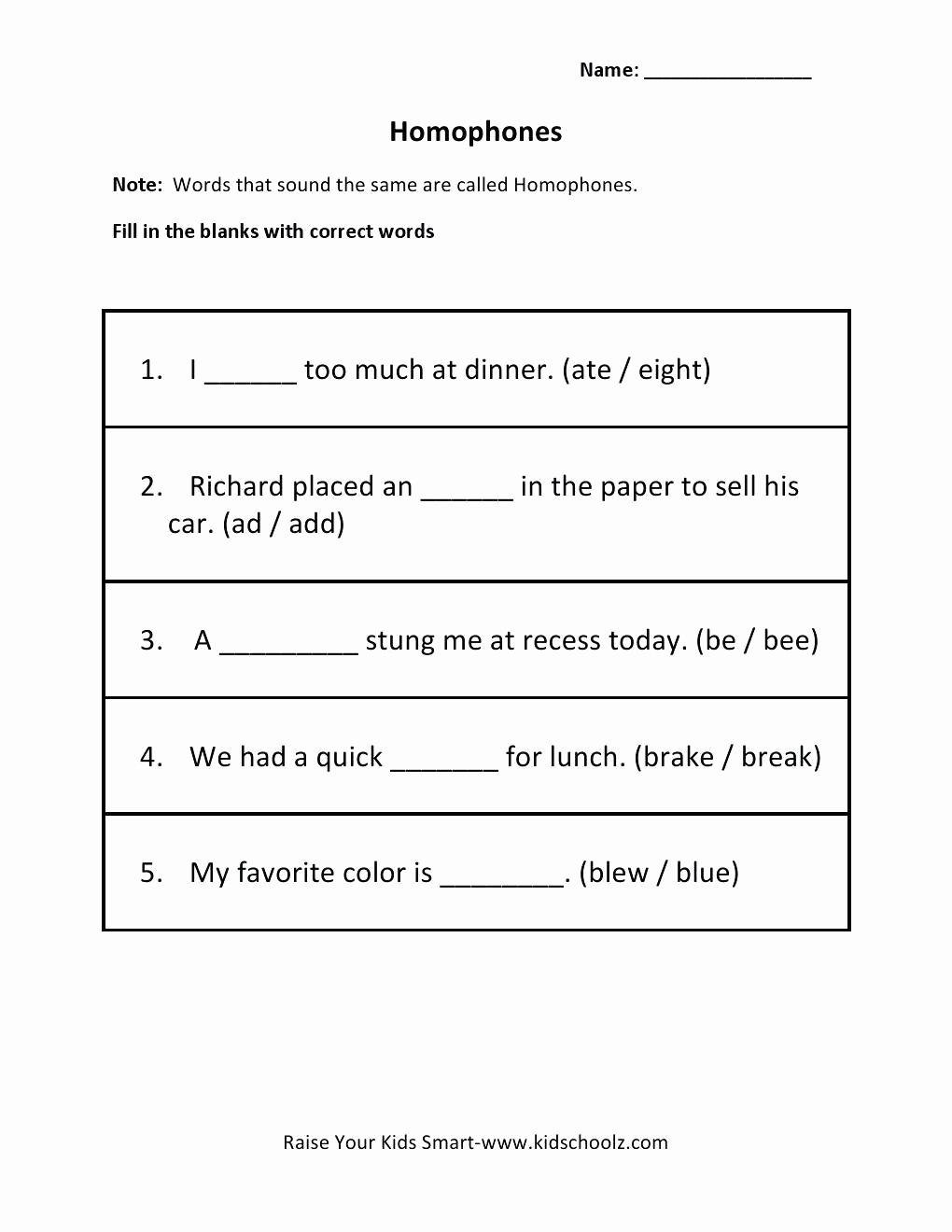 Homonym Worksheets Middle School Awesome 20 Homonym Worksheets Middle School