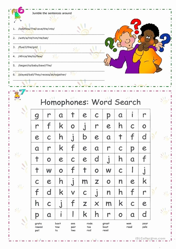 Homonym Worksheets Middle School New Homonyms Homophones Homographs English Esl Worksheets