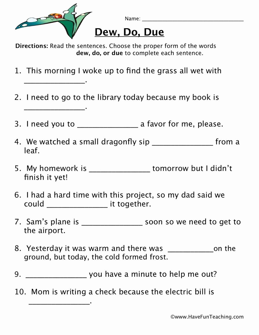 Homonyms Worksheets 5th Grade Lovely Homophones Worksheet 5th Grade