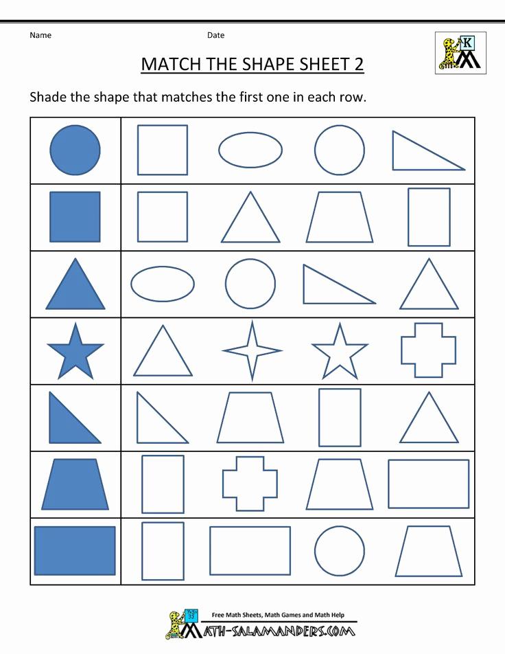 Identify Shapes Worksheet Kindergarten Beautiful Free Shape Worksheets Kindergarten