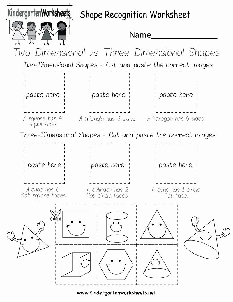 Identify Shapes Worksheet Kindergarten Beautiful Shape Recognition Worksheet Free Kindergarten Geometry