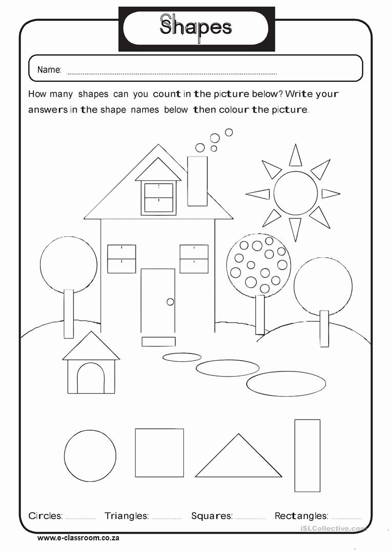 Identify Shapes Worksheet Kindergarten Best Of Geometry Shapes Worksheet Free Esl Printable Worksheets
