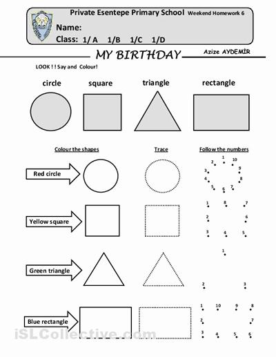 Identify Shapes Worksheet Kindergarten Elegant 13 Best Of Kids Shapes Worksheets Kindergarten