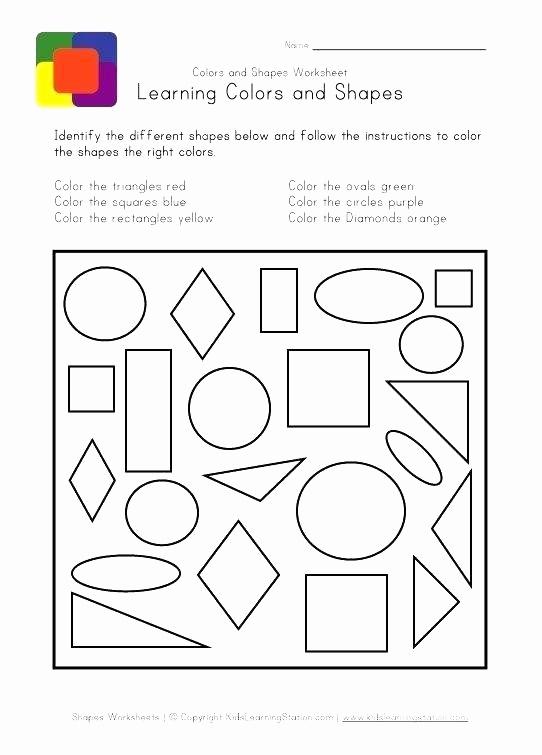 Identify Shapes Worksheet Kindergarten Luxury Identify Shapes Worksheet Kindergarten Kids Colors and