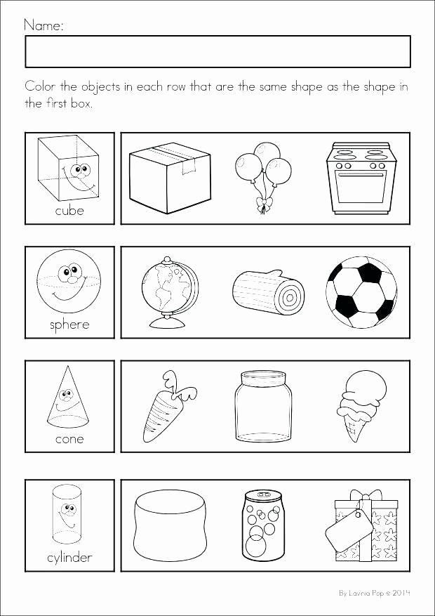 Identify Shapes Worksheet Kindergarten New Identifying Shapes Worksheets Kindergarten Shapes