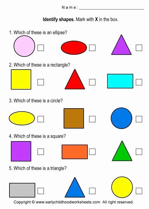 Identify Shapes Worksheet Kindergarten Unique Identify Shapes Worksheet Kindergarten Identifying Shapes