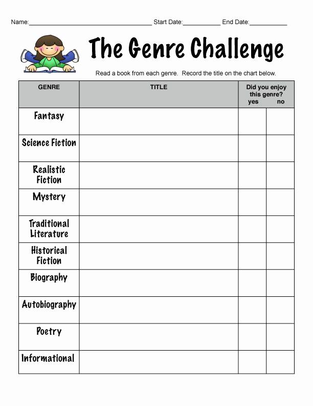 Identifying Genre Worksheets Elegant Genre Printable Worksheet – Learning How to Read