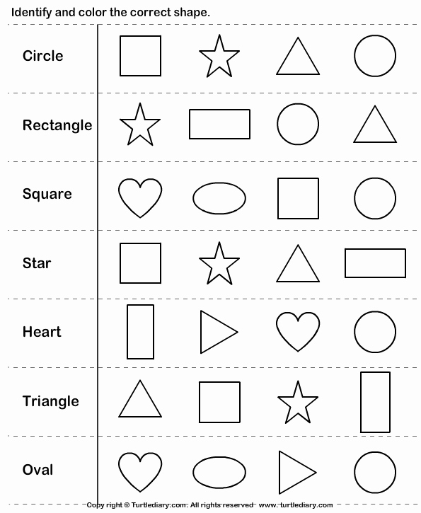 Identifying Shapes Worksheets Awesome Identifying Shapes Worksheets Kindergarten On 2d Shapes