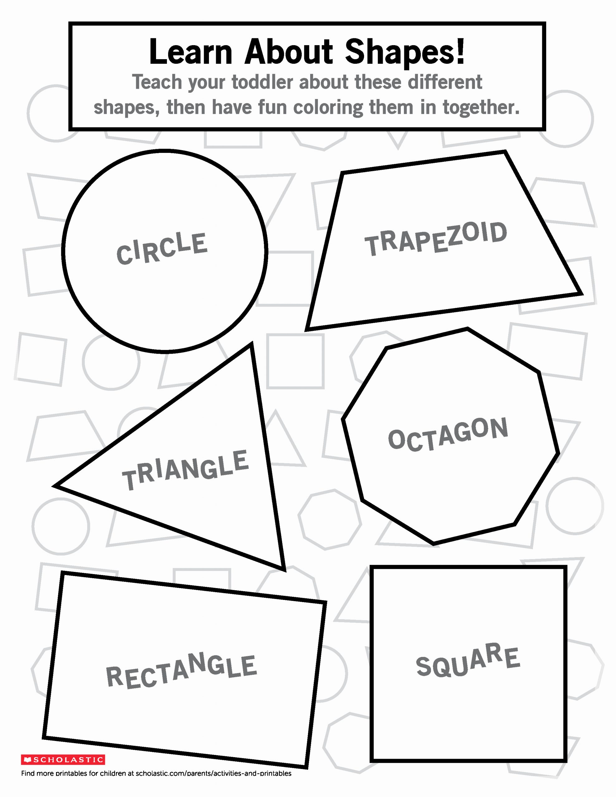 Identifying Shapes Worksheets Beautiful Identify Different Shapes