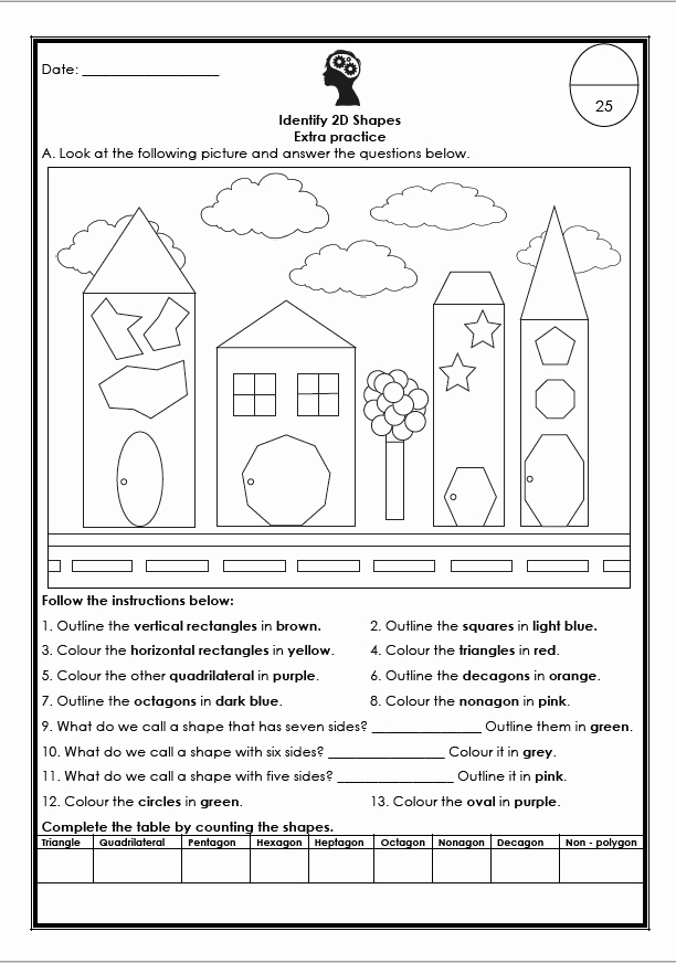 Identifying Shapes Worksheets Best Of Identify 2d Shapes Worksheet – Teacha