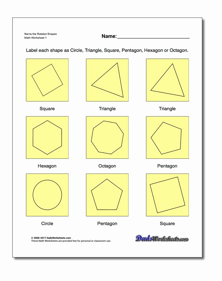 Identifying Shapes Worksheets Best Of Identifying Shapes Geometry Worksheets