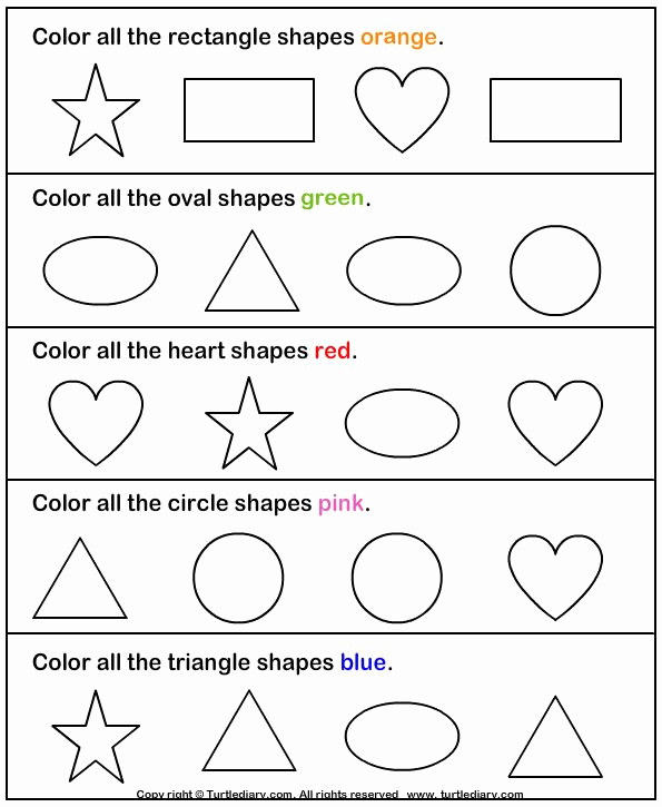 Identifying Shapes Worksheets Inspirational Crafts Actvities and Worksheets for Preschool toddler and