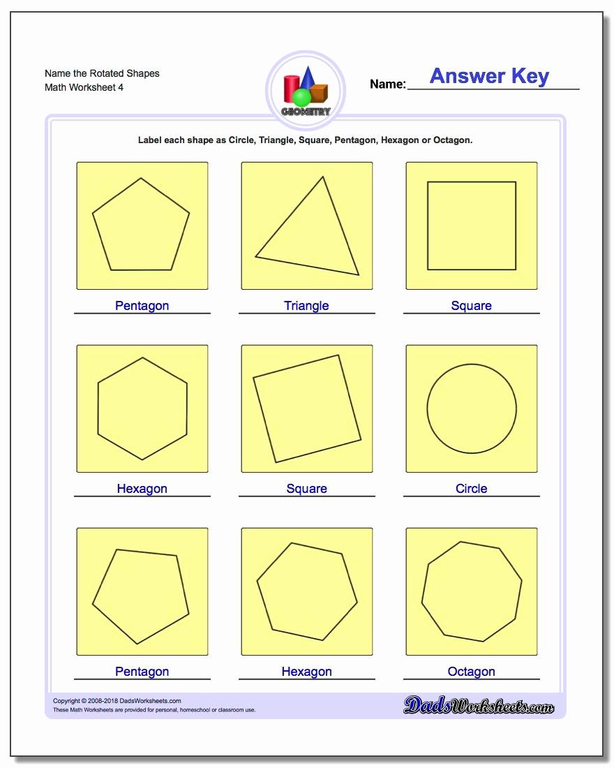 Identifying Shapes Worksheets Lovely Basic Shapes