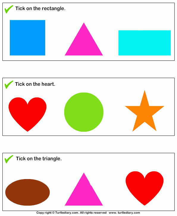 Identifying Shapes Worksheets Lovely Identify 2d Shapes Worksheet Turtle Diary