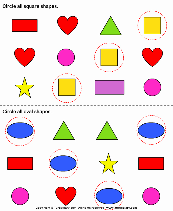 Identifying Shapes Worksheets Lovely Identify Shapes Worksheet Turtle Diary