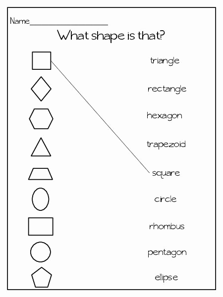 Identifying Shapes Worksheets New 9 Best Of 2 and 3 Dimensional Shapes Worksheets for