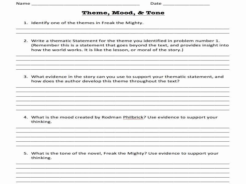 Identifying theme Worksheet Unique 16 Best Of Identifying Plot Worksheets Setting