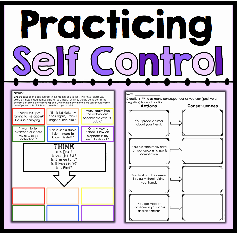 Impulse Control Worksheets Printable Awesome Worksheets Impulse Control Worksheets atidentity