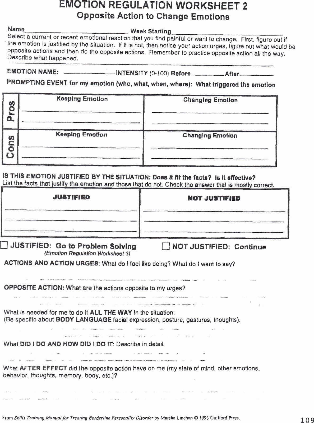 Impulse Control Worksheets Printable Inspirational Impulse Control Worksheets Printable