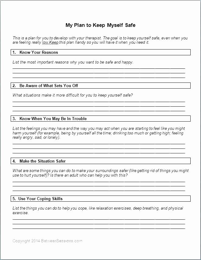 Impulse Control Worksheets Printable Lovely 25 Impulse Control Worksheets for Teens