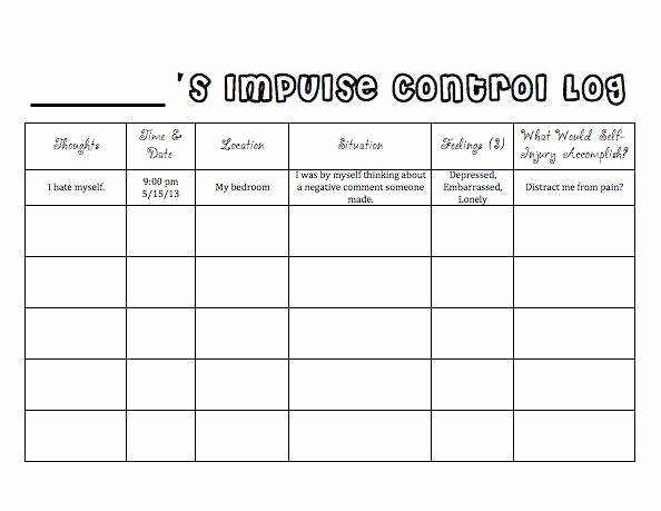 Impulse Control Worksheets Printable Lovely Impulse Control Worksheets