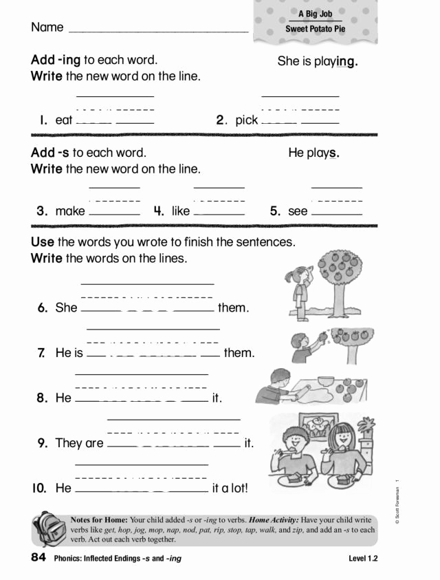 Inflectional Endings Worksheets 2nd Grade Beautiful Inflectional Endings Worksheets 2nd Grade Phonics