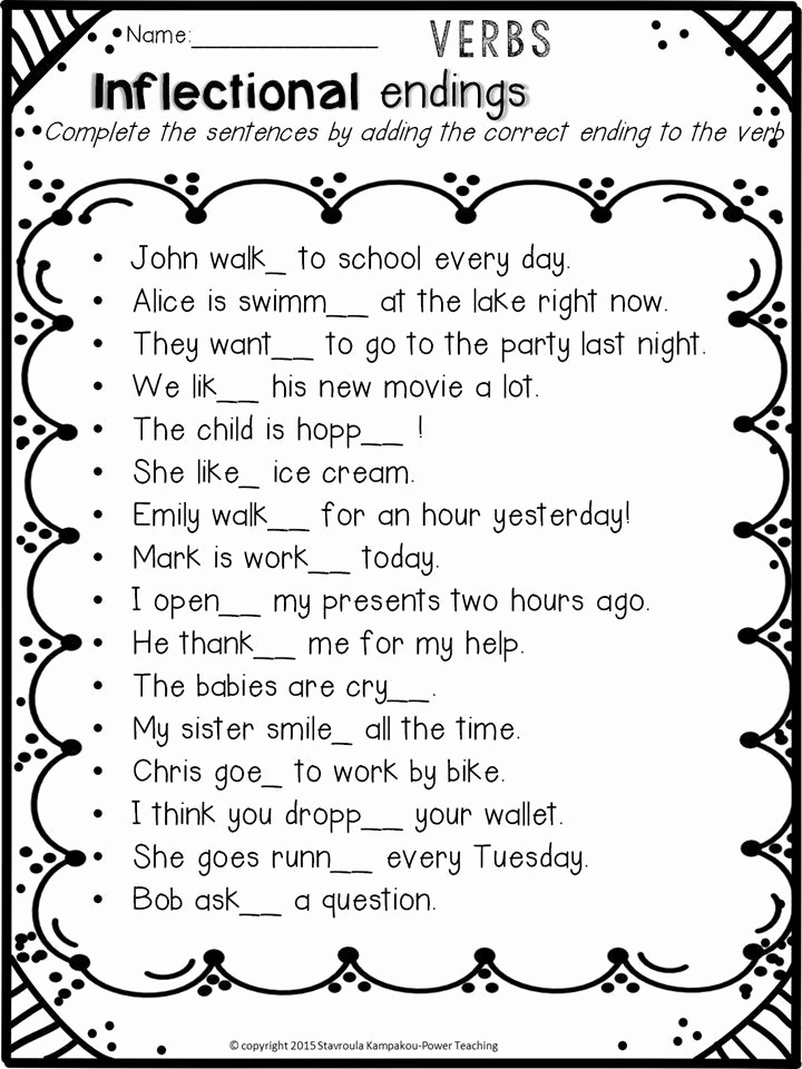 Inflectional Endings Worksheets 2nd Grade Lovely 20 Inflectional Endings Worksheets 2nd Grade