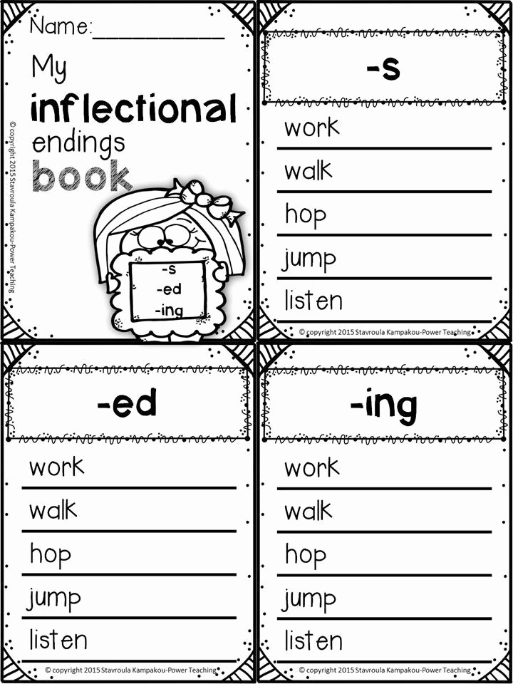 Inflectional Endings Worksheets 2nd Grade Luxury Inflectional Endings Worksheets 2nd Grade Inflectional