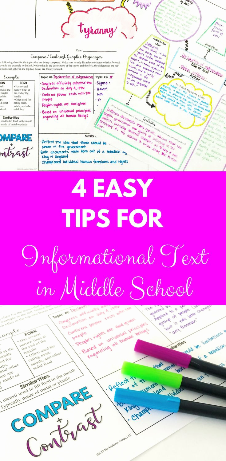 Informational Text Worksheets Middle School Elegant Informational Texts Middle School Informational Texts