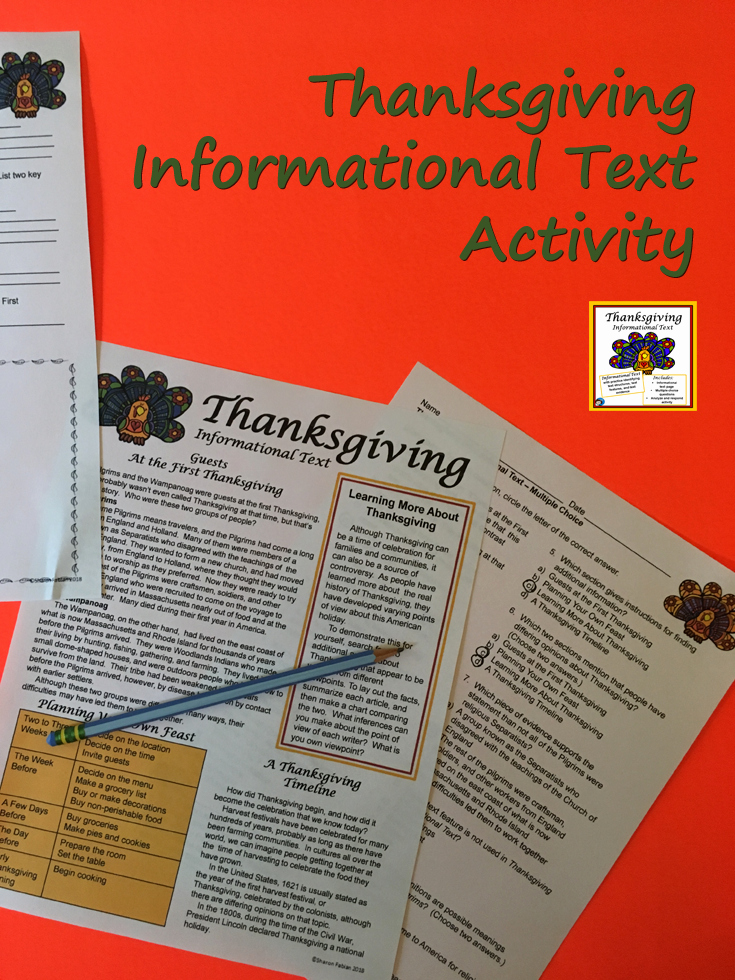 Informational Text Worksheets Middle School Inspirational Informational Text Celebrations