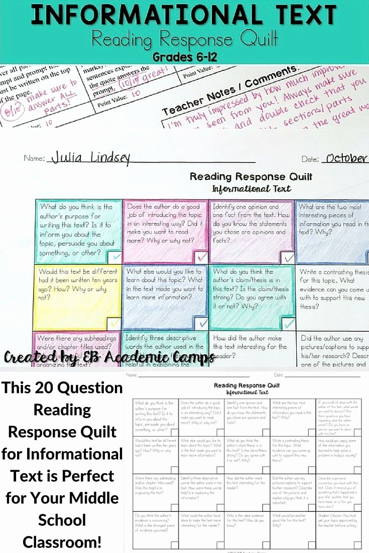 Informational Text Worksheets Middle School Luxury Informational Text Choice Board with Images