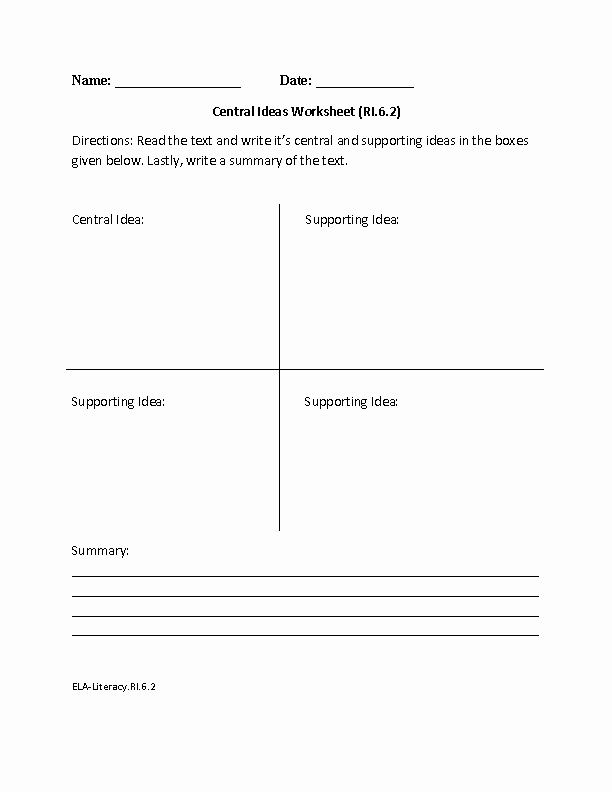 Informational Text Worksheets Middle School New 6th Grade Mon Core