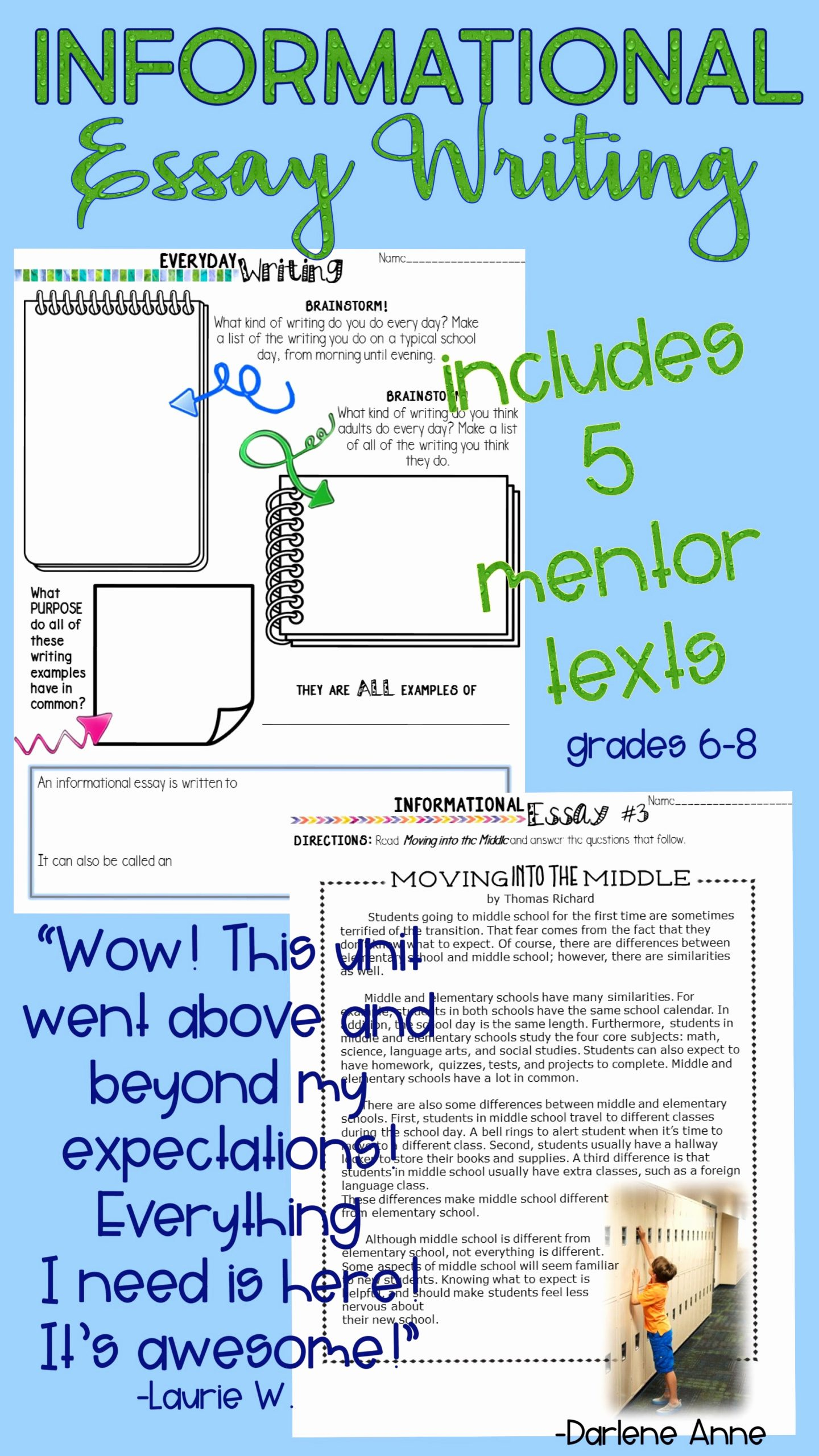 Informational Text Worksheets Middle School New Informational Writing Workshop for Middle School Ela Print