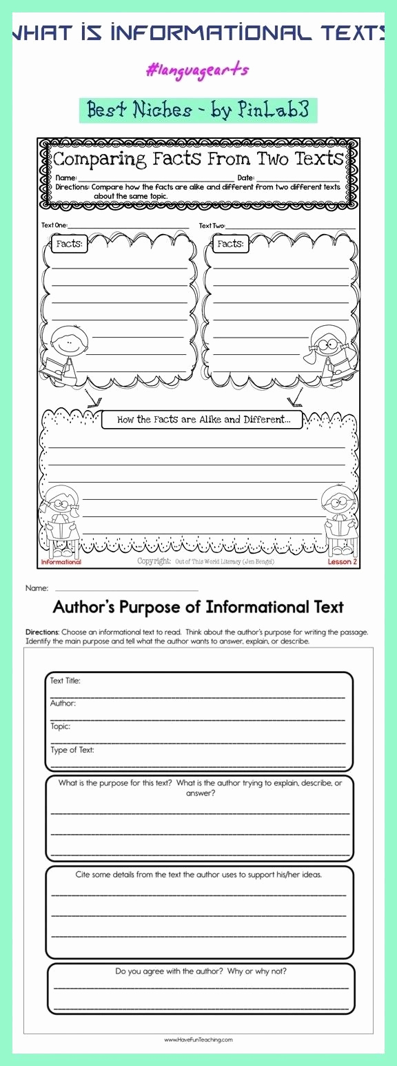 Informational Text Worksheets Middle School New What is Informational Texts Informational Texts Was Sind