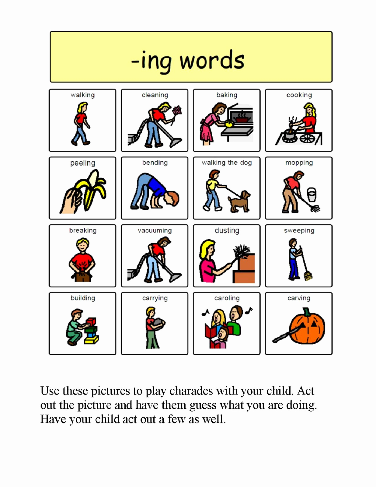 Ing Endings Worksheets Inspirational Speech therapy with Miss Nicole Ing Verbs