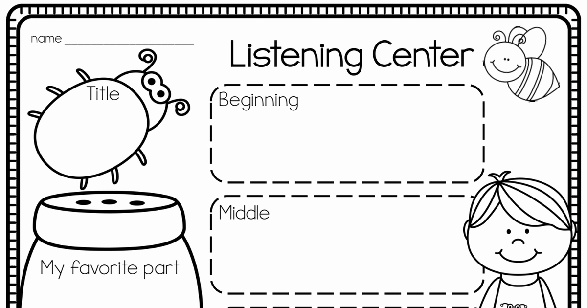 Insect Worksheets for First Grade Elegant Insect Listening Ctr Pdf