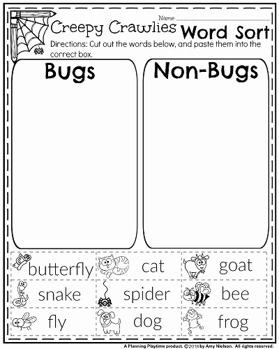 Insect Worksheets for First Grade Inspirational October First Grade Worksheets