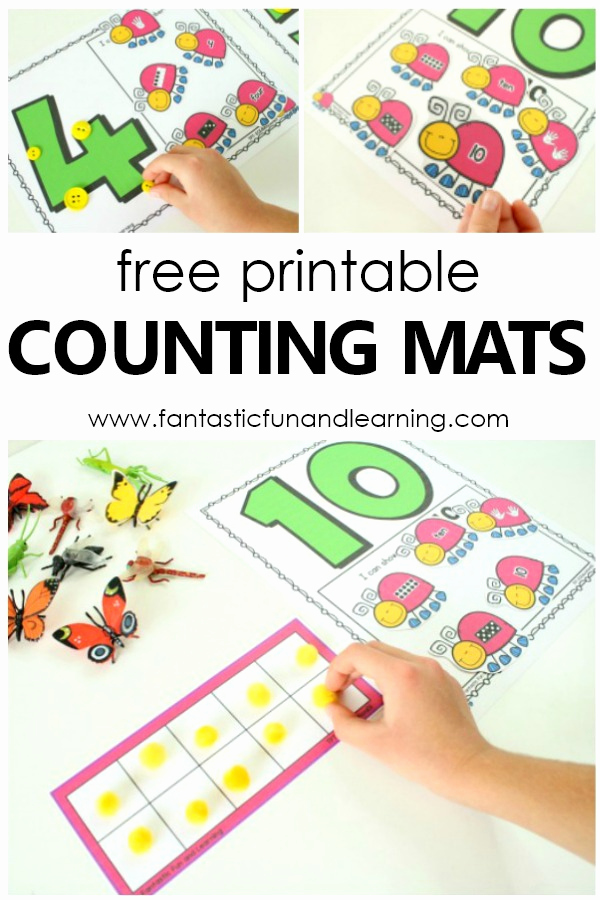 Insect Worksheets for Preschoolers Beautiful Insect Counting Numbers Math Activity Fantastic Fun
