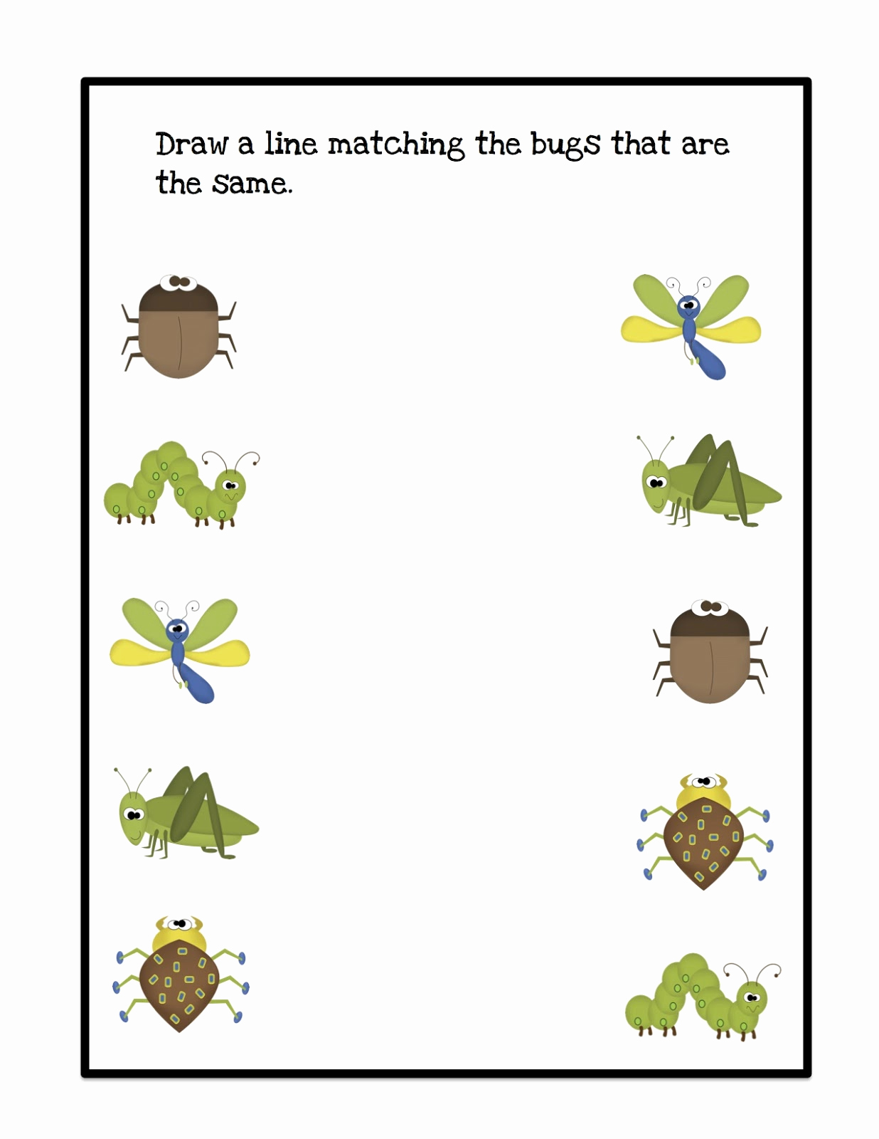 Insect Worksheets for Preschoolers Inspirational Bug Pattern Cards for Boys Preschool Printables