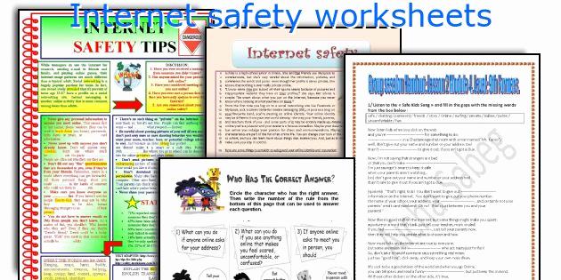 Internet Safety Worksheets Printable Inspirational Internet Safety Worksheets