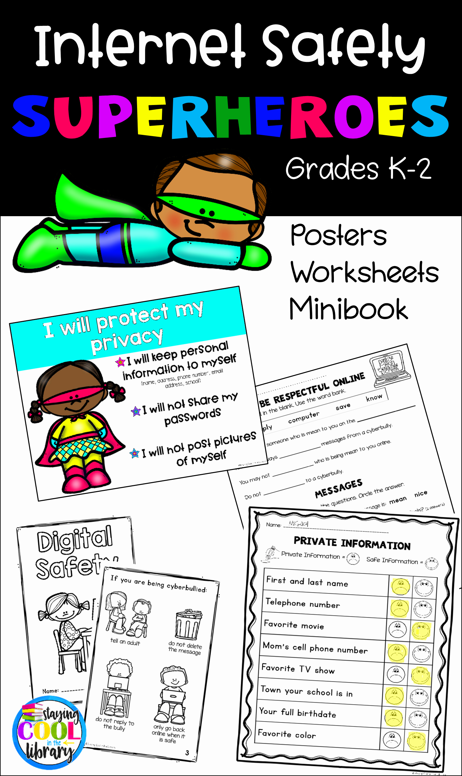 Internet Safety Worksheets Printable Unique Internet Safety Posters and Activities K 2